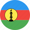 caledonia, circle, country, flag, nation, new icon