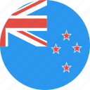 zealand, country, nation, flag, new, circle