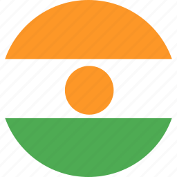 circle, country, flag, nation, niger icon
