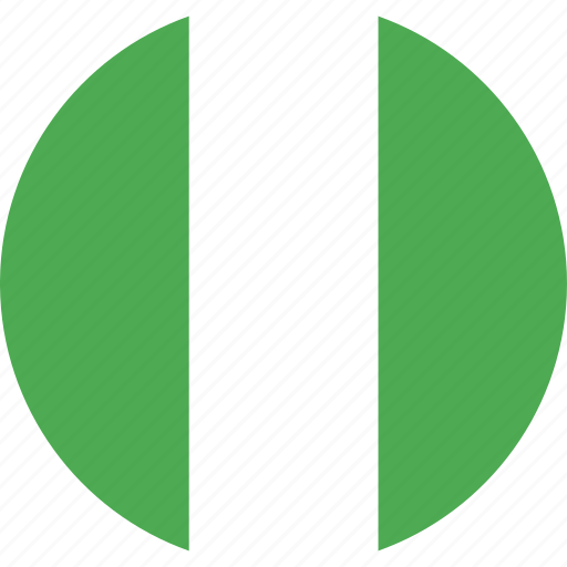 circle, country, flag, nation, nigeria icon
