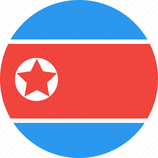 circle, country, flag, korea, nation, north icon