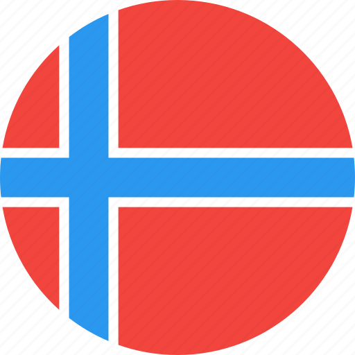 circle, country, flag, nation, norway icon