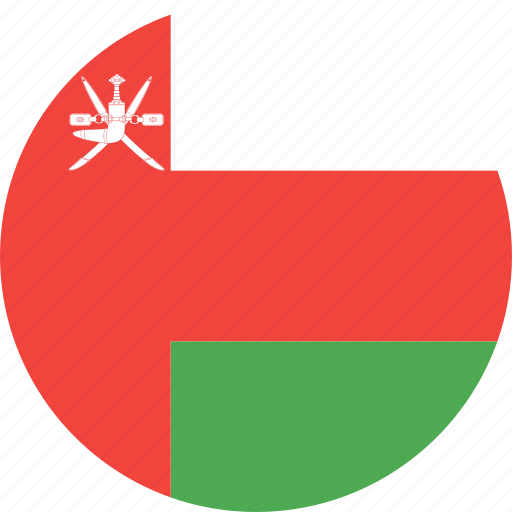 circle, country, flag, nation, oman icon