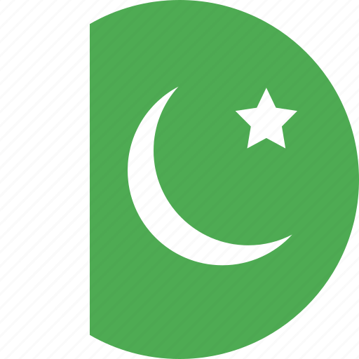 circle, country, flag, nation, pakistan icon