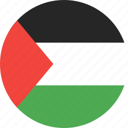 circle, country, flag, nation, palestine icon