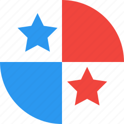 circle, country, flag, nation, panama icon