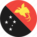 circle, country, flag, guinea, nation, new, papua icon