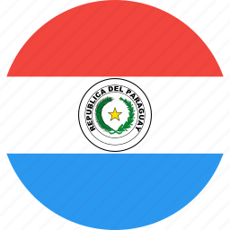 circle, country, flag, nation, paraguay icon