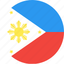 circle, country, flag, nation, philippines icon