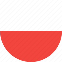 circle, country, flag, nation, poland icon