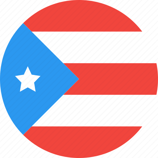 circle, country, flag, nation, puerto, rico icon