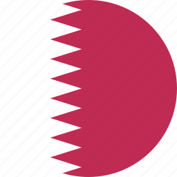 circle, country, flag, nation, qatar icon