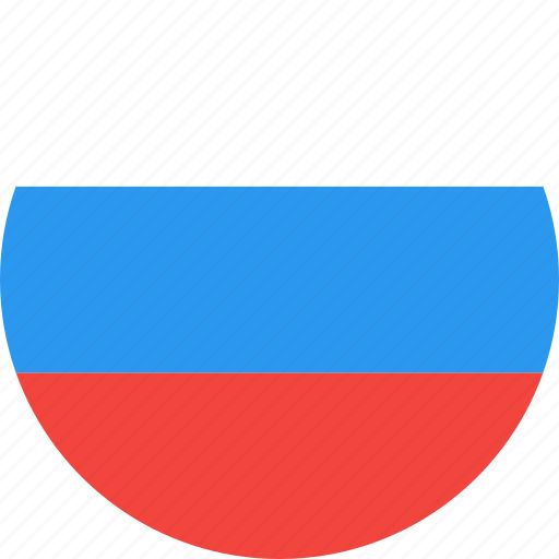 circle, country, flag, nation, russia icon