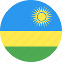 circle, country, flag, nation, rwanda icon
