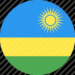 circle, country, flag, nation, rwanda icon