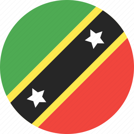 circle, country, flag, kitts, nation, nevis, saint icon