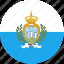 circle, country, flag, marino, nation, san