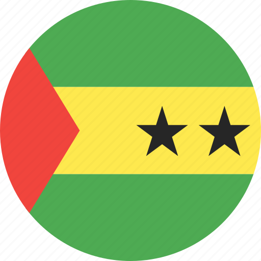 circle, country, flag, nation, principe, sao, tome icon