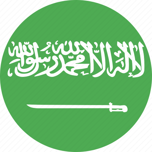 arabia, circle, country, flag, nation, saudi icon