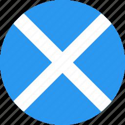 circle, country, flag, nation, scotland icon