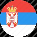 circle, country, flag, nation, serbia