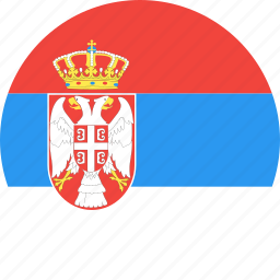 circle, country, flag, nation, serbia icon