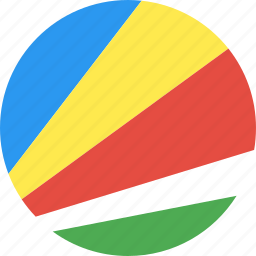 circle, country, flag, nation, seychelles icon