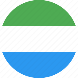 circle, country, flag, leone, nation, sierra icon