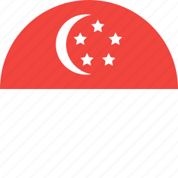 circle, country, flag, nation, singapore icon