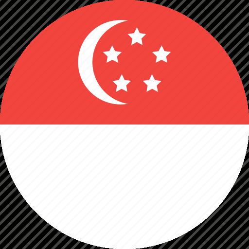 circle, country, flag, nation, singapore icon