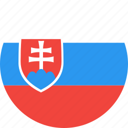 circle, country, flag, nation, slovakia icon