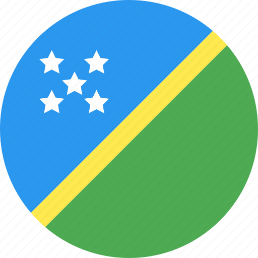 circle, country, flag, islands, nation, solomon icon
