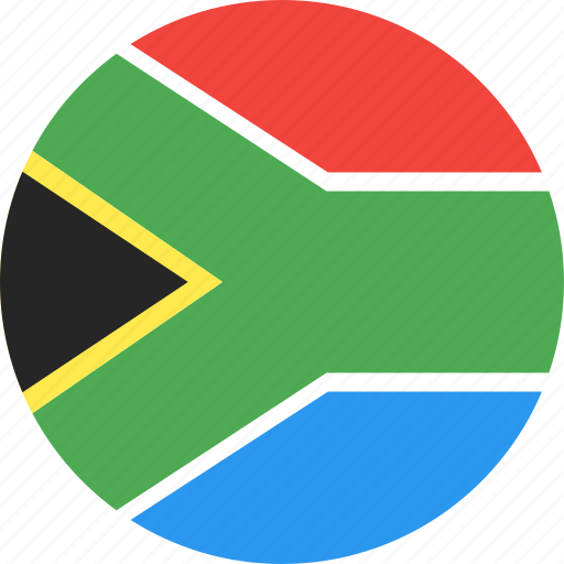 africa, circle, country, flag, nation, south icon