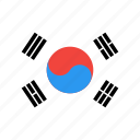 korea, country, nation, flag, circle, south
