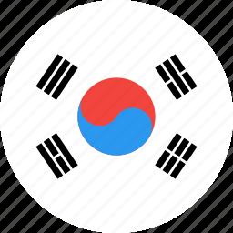 circle, country, flag, korea, nation, south icon
