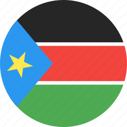 circle, country, flag, nation, south, sudan icon