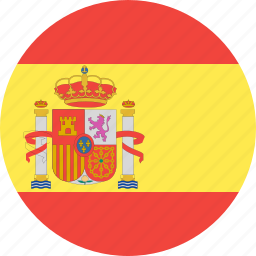 circle, country, flag, nation, spain icon