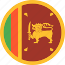 circle, country, flag, lanka, nation, sri icon