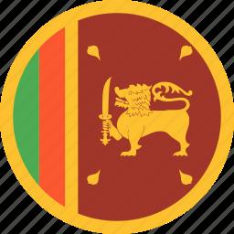 circle, country, flag, lanka, nation, sri icon