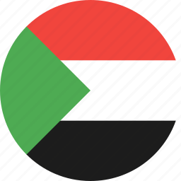 circle, country, flag, nation, sudan icon