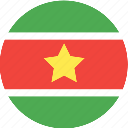 circle, country, flag, nation, suriname icon
