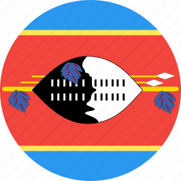 circle, country, flag, nation, swaziland icon