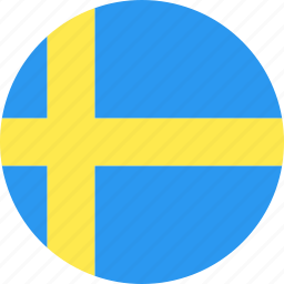 circle, country, flag, nation, sweden icon