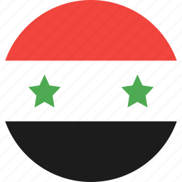 circle, country, flag, nation, syria icon