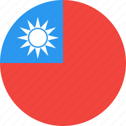circle, country, flag, nation, taiwan icon