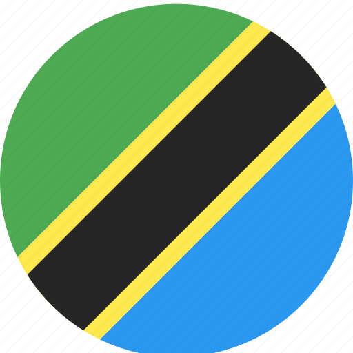 circle, country, flag, nation, tanzania icon