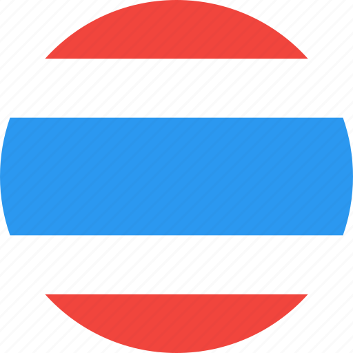 circle, country, flag, nation, thailand icon