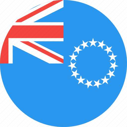 circle, cook, country, flag, islands, nation, the icon
