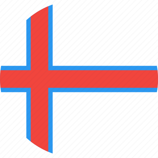 circle, country, faroe, flag, islands, nation, the icon
