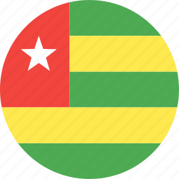 circle, country, flag, nation, togo icon